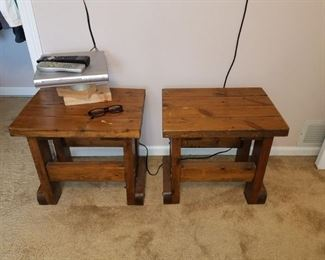 Pair of wood stools/mini tables