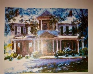 Note card coverof home