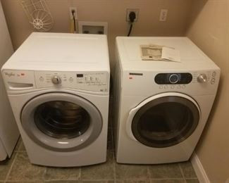"""Samsung / Maytag washer dryer set. Both front loaders, very clean.  These items are available for """"pre-sale""""  priced at $600 for the pair."""
