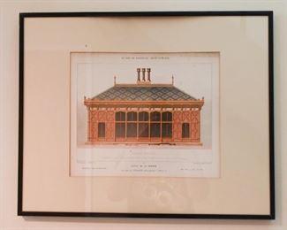 Framed Architecture Elevation Prints, France / French - Le Moniteur des Architectes