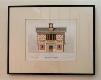 Framed Architecture Elevation Prints, France / French - Le Moniteur des Architectes