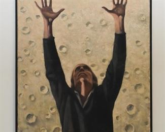 Framed Original Artwork / Oil Painting, Signed Reynaldo Torres, Listed Artist