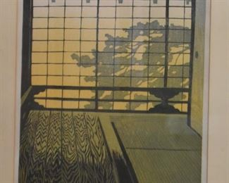 Framed Japanese Woodblock Print, 1962, Shiro Kasamatsu, 176/200