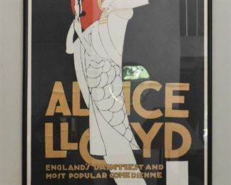 Alice Lloyd Advertising Poster - Alfonso Iannelli, Orpheum Theatre, Framed