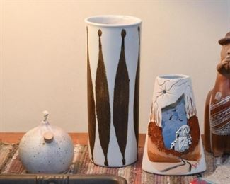 Pottery - the center vase is SOLD