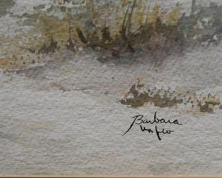 Framed Artwork - Watercolor, Signed