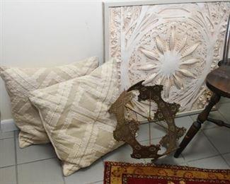 Throw Pillows, Pierced Metal Lamp Shade