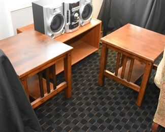 Mission Style End Tables (Pair)