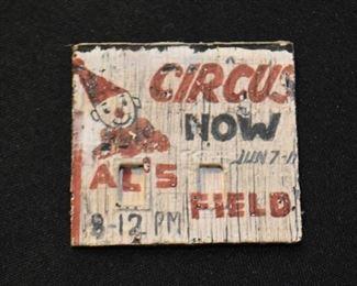 Miniature Circus Sign