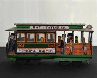 Vintage Tin Toy - San Francisco Cable Car (there are 2 of these)