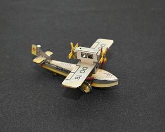 Tin Airplane Miniature Toy