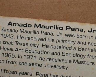 Framed Woodblock Print by Amado Maurilio Pena, Jr.