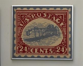 Framed Postage Stamp Needlepoint
