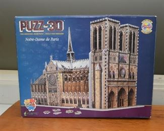 3-D Notre-Dame Puzzle