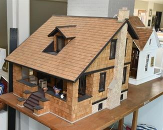 Arts & Crafts Style House Model / Doll House / Dollhouse