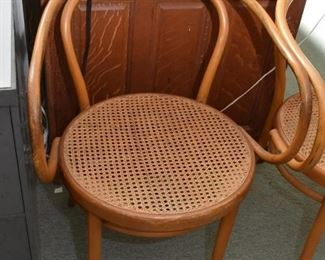 Vintage Bentwood / Cane Seat Chairs (Set of 3)