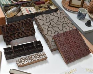 Wallpaper / Textile Printing Blocks / Stamps