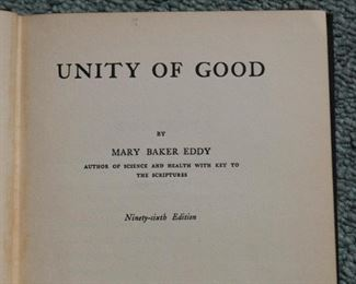 """Unity of Good"" by Mary Baker Eddy - Antique Books (there are 2 of these)"