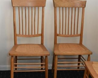 Wooden Spindle Back Chairs with Cane Seats (there are 5 of these available)