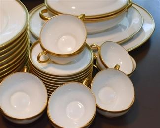 Limoges White with Gold Rim China Set (Wm Guerin & Co, France)