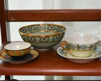 Vintage Teacups (Lustreware) and Bowl