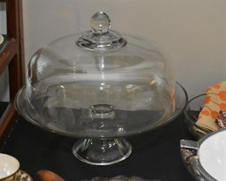 Cake Plate / Pedestal with Dome