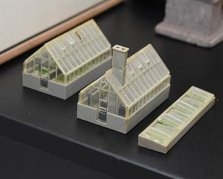 Miniature Greenhouses - the two most right are SOLD