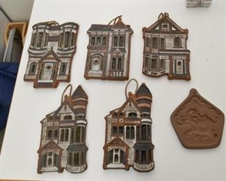 Ceramic Plaques / Wall Hangings - Houses
