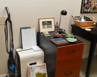 Vacuum, Paper Shredder, 2-Drawer File Cabinet, Office Supplies, Etc.
