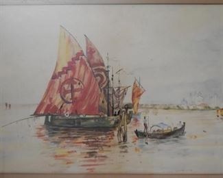 Framed Artwork / Watercolor