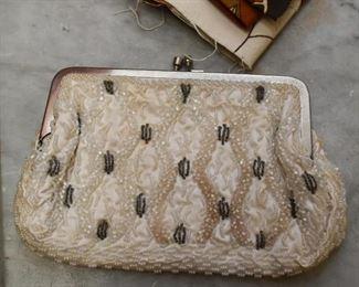 Vintage Beaded Handbag / Evening Bag