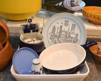 Kitchenware, Dishes, Pans, Wall Pocket, Etc.