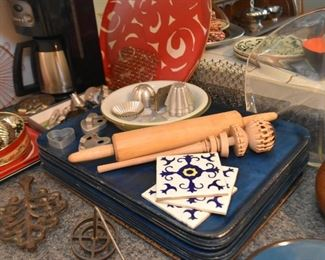 Serving / Snack Trays, Wooden Utensils, Tiles, Molds, Etc.