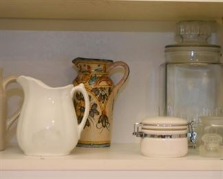 Vintage Pitchers & Creamers, Canisters