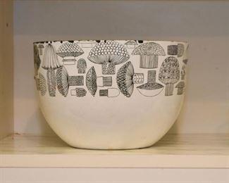 "Mid-Century Modern Kaj Franck ""Finel"" Finland Mushroom Enamel Bowl"