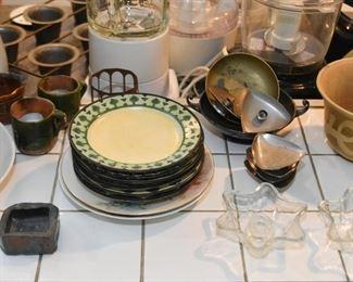 Plates, Candle Holders, Ceramics, Etc.