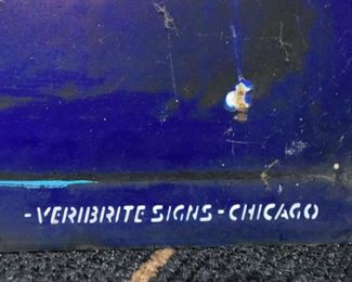 Double Sided Enamel Noyes Street Sign by Veribrite Signs, Chicago