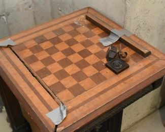 Antique Victorian Game / Chess Table