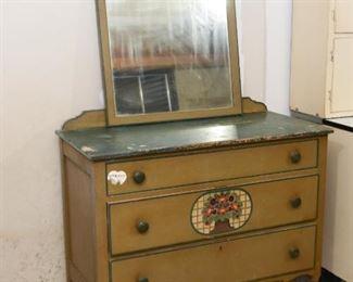 Vintage Dresser / 3-Drawer Chest with Mirror