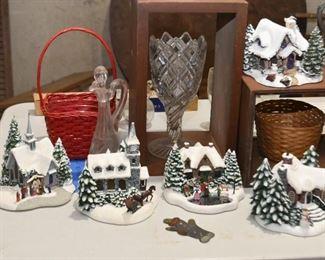 Thomas Kincaid Christmas Figurines / Cottages
