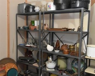 Utility Shelving, Pottery, Kitchenware