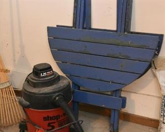 Shop Vac, Folding Outdoor Table--Shop Vac is SOLD