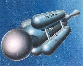 General Dynamics/NASA Original signed concept art