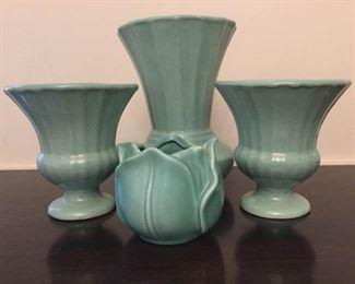 Vintage Art Pottery Vases: Stangl, P York and Pfaltzgraff https://ctbids.com/#!/description/share/228045