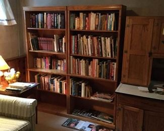 Two Tall Wood Bookcases https://ctbids.com/#!/description/share/228200