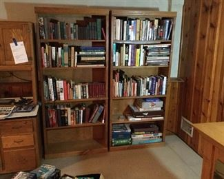 Two Tall Wood Bookcases https://ctbids.com/#!/description/share/228201
