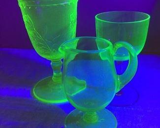 Collection of Vintage Uranium Glass Items https://ctbids.com/#!/description/share/229573