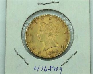 1898 Liberty Head $10 Gold Coin (#1) https://ctbids.com/#!/description/share/231478