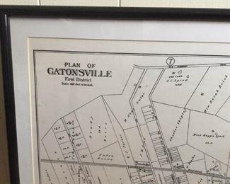 Framed Plat of Catonsville District 1 https://ctbids.com/#!/description/share/230993