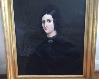 Original unsigned antique portrait painting https://ctbids.com/#!/description/share/230639